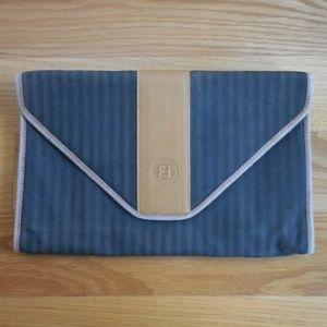 VTG~FENDI~Striped Envelope Clutch~Waist/Bum Bag